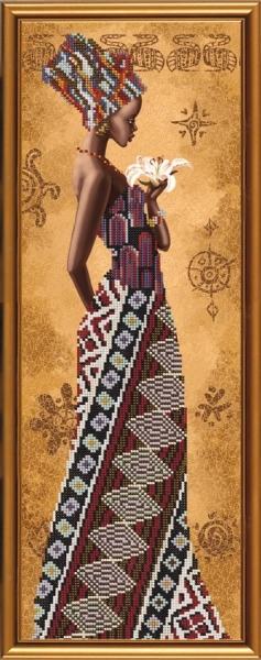 Африканка с лилия